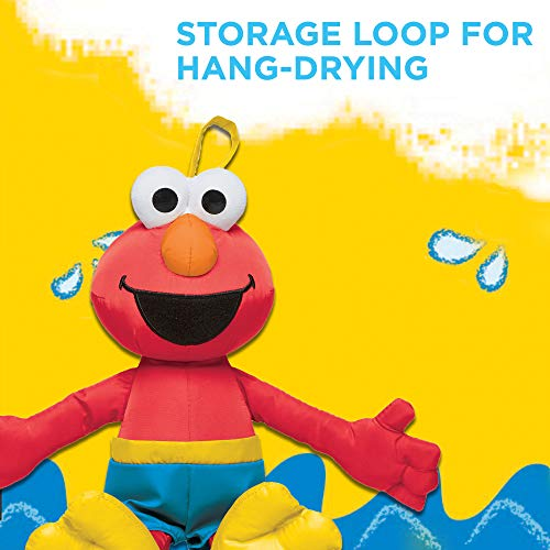 Sesame Street Bath Time Elmo: Elmo Bath Time Toy for Toddlers, Cute Swim Trunks Outfit, Soft and Washable, Toy for 18 Month Olds and Up by Sesame Street (Image #4)