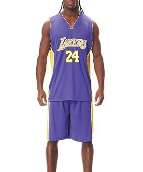 Uniforme de Baloncesto NBA Lakers No. 24 Kobe Bryant Fan Jersey ...