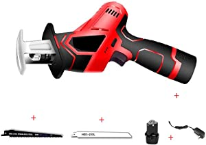 Pruning Saw, Electric Reciprocating Saw Rechargeable 12V 1300mAh Cordless Wood Metal Plastic Pruning Chainsaw Tool