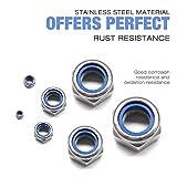 304 Stainless Steel Lock Nut Assortment 180 Pcs, M3
