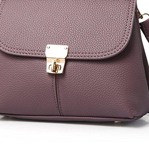 MEI Ms. Messenger Tasche Hand Umhängetasche Rucksack Multifunktionales Hand Geprägte darkpurple 1c0ApV