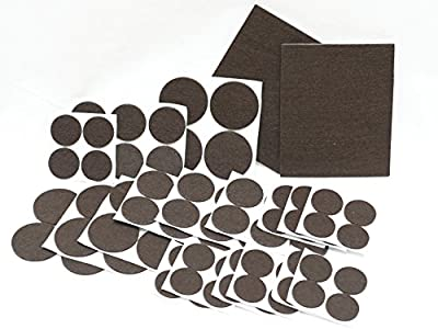 Furniture Pads, Self Adhesive Heavy Duty Felt Pads for Medium to Large Furniture - Floor protector pads for Tiled, Hardwood, Laminate Flooring - Set of 82 Floor Protectors of Various Sizes Included