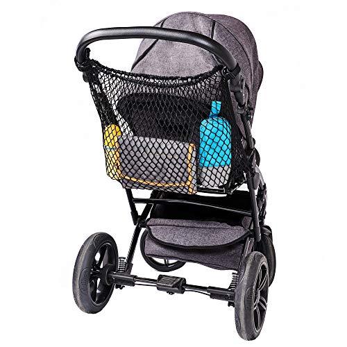 Diago Universeel boodschappennet XL voor kinderwagen, buggy, sportwagen, jogger en tweelingwagen/eenvoudige kliksluiting…