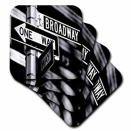 3dRose Broadway Ceramic Tile Coaster, Set of 4