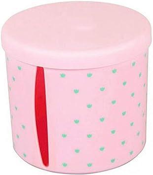 Soporte de pl/ástico impermeable para pa/ñuelos de beb/é dispensador de pa/ñuelos para el hogar rosa rosa