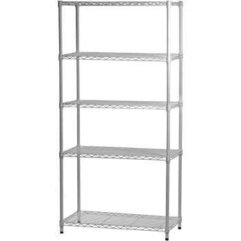 White Wire Shelving | Amazon Com White Wire Shelving With 5 Shelves 12 D X 24 W X 72 H