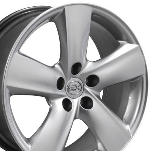 SET of 18x8 Wheels Fit Lexus, Toyota - LS460 Style Hyper Silver Rims, Hollander 74196 (Wheel Lexus Alloy Ls430)