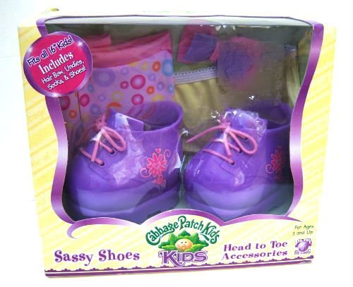 Cabbage Patch Kids Sassy Purple Sneaker Shoes and Head to Toe Accesories
