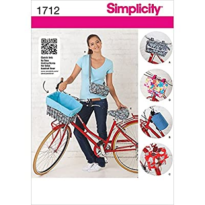 Simplicity 1712 Bicycle Bags and Seat Cover Sewing Pattern, Size OS (One Size)