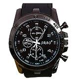 Quaanti Mens Outdoor Sport Watch Stainless Steel Luxury Sport Analog Quartz Modern Men Fashion Wrist Watch Brand Watches (Black)