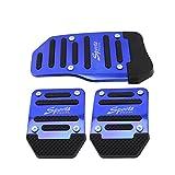 DIDEMI Manual Car Auto New Fashion Non Slip Sports Aluminium Alloy Automatic Car Auto Vehicle Pedal Foot Treadle Foot Brake Cover Pad (Manual Blue)