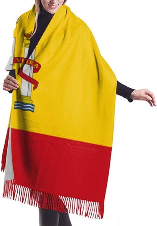Bufanda Ligera Grande Bandera Alta Detallada España Bufanda Ligera ...