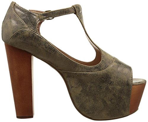 Jeffrey Campbell Foxy Metallic - Zapatos Mujer Bronce