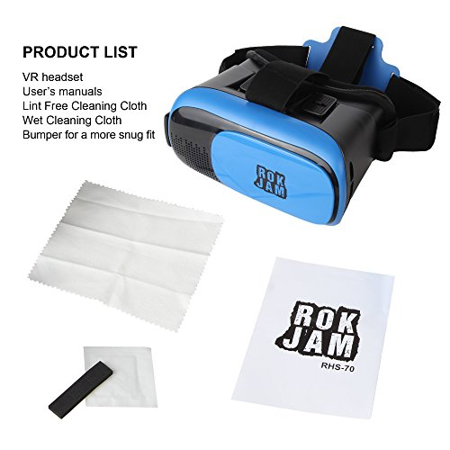 3D VR Headset Technology - Best Virtual Reality Experience For Games & Video - Watch Movies In Breathtaking HD With Your Smartphone Fit Glasses & Helmet - Goggles For Your iPhone & Android Smartphones by Rok Am (Image #3)