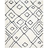 Safavieh Toronto Shag Collection SGT727K Ivory and Blue Handmade Area Rug (4′ x 6′)