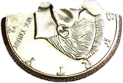 Folding Coin//Bite Out Coin Copper Morgan Dollar Version Amazing Coin Magic Trick