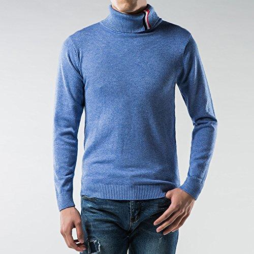 Jdfosvm EIN Hemd, ärmel Kopf verhafteten männer im Winter warm und gemütlich langärmelige Pullover,Blau,M