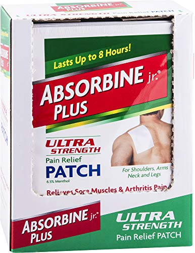 Absorbine Jr. Ultra Strength Pain Relief Patch | Relieves Sore Muscles and Arthritis Pain | Up to 8 Hours of Pain Relief | Non-Greasy | 18 Count
