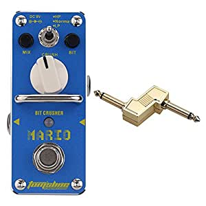 aroma amo 3 mario bit crusher electric guitar effect pedal with true bypass 1 4. Black Bedroom Furniture Sets. Home Design Ideas