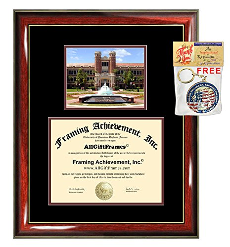 (Florida State University Diploma Frame FSU School Picture Graduation Degree Campus Certificate Bachelor Master Doctorate PHD Plaque Framing Graduate Gift Case)