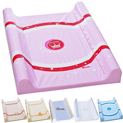 LCP Kids Baby Wickelauflage PATO 70x50 abwaschbare Unterlage als 2 Keil Matte, Prinzessin Rosa