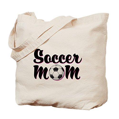 CafePress - Soccer Mom - Natural Canvas Tote Bag, Cloth Shopping Bag