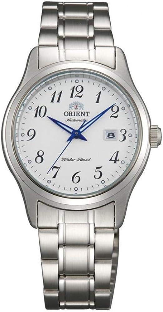 Orient Reloj Analógico para Mujer de Automático con Correa en Acero Inoxidable FNR1Q00AW0