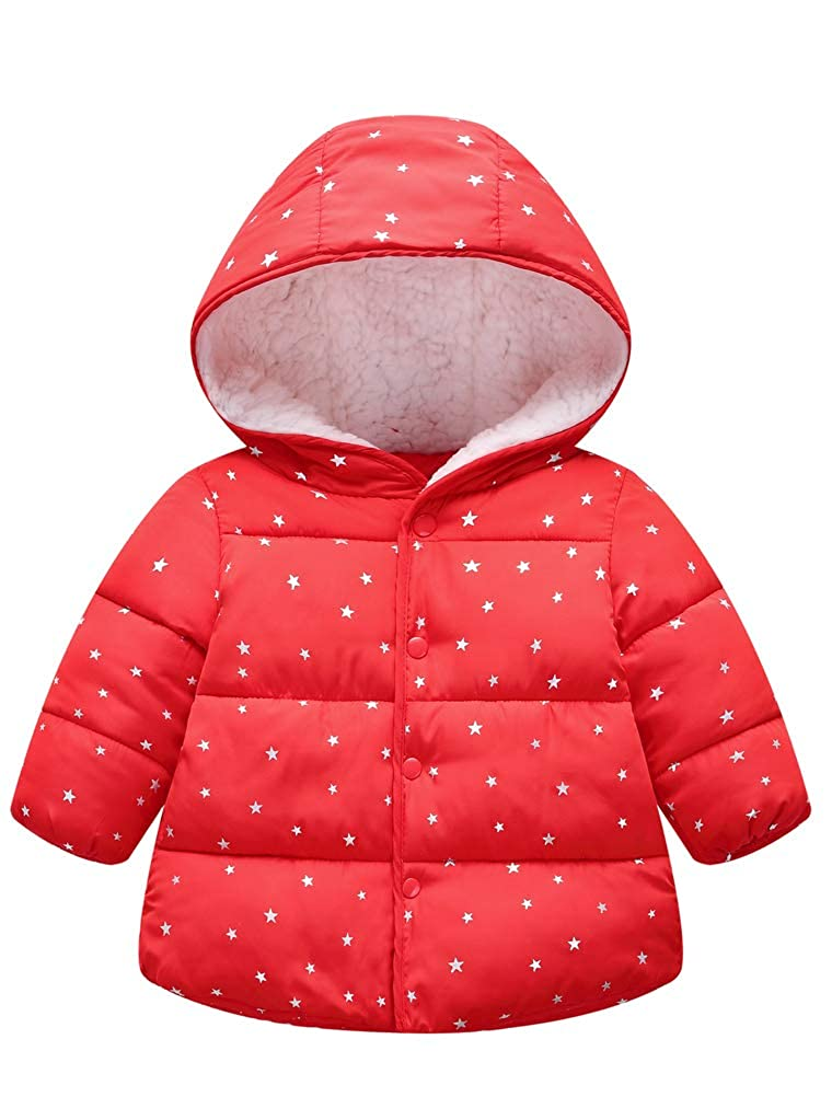 ARAUS Hooded Jacket Baby Girl Boy Autumn Winter Thick Warm Coat Clothes for Kids 2-9 Years
