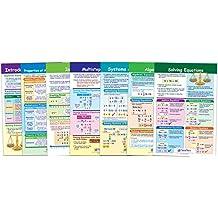 NewPath Learning 93 6505 Algebra Skills Bulletin Board Chart Set Pack Of 7