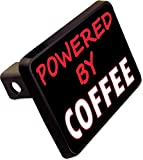 PROTECTED BY COFFEE Trailer Hitch Cover Plug Funny Novelty