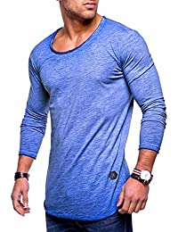 Men's Slim Fit O-Neck Long Sleeve Muscle Tee T-Shirt Casual Tops MT-7315