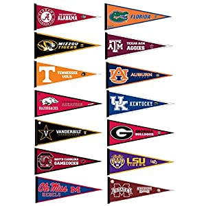 amazoncom sec college pennant set sports related