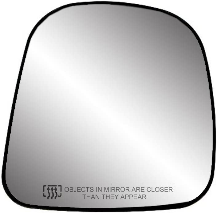 RH Fit System 30058 Passenger Side Heated Replacement Mirror Glass with Backing Plate Renewed
