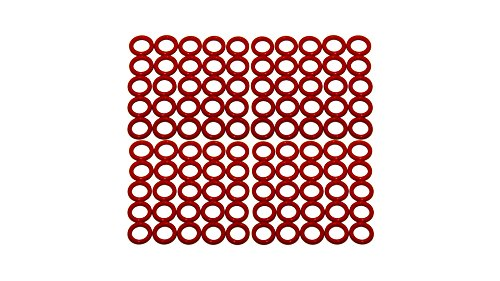 70 Durometer Hardness Pack of 100 3 ID 3-3//16 OD Sur-Seal Inc. 3 ID Ozone and Sunlight Vinyl Methyl Silicone 3-3//16 OD Excellent Resistance to Oxygen Sterling Seal ORSIL151x100 Number-151 Standard Silicone O-Ring Pack of 100