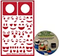 Emoji Stencil Set Kit for Glass Etching or Painting, Reusable + Free How to Etch CD