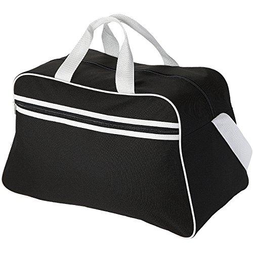 Borsa Borsone sportivo San jose in poliestere 2 manici e tracolla regolabile negro/blanco