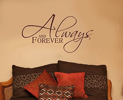 Wall Decor Plus More WDPM3128 Always and  Forever Bedroom Wall Decal, 23x13-Inch, Chocolate Brown ()