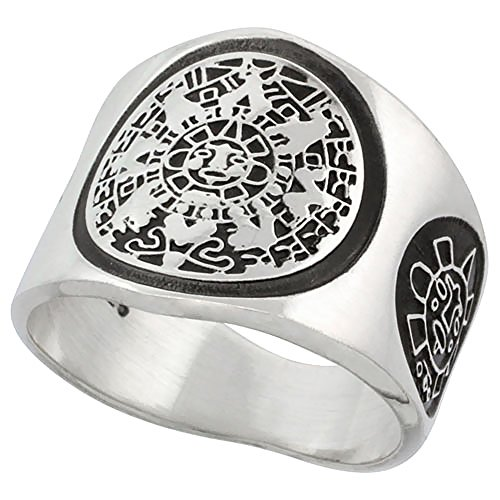 Sterling Silver Aztec Calendar Mayan