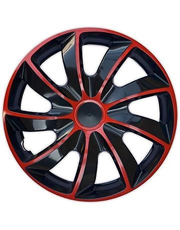 Wheel Trims Set of 4 Quad Bicolor Red covers (14