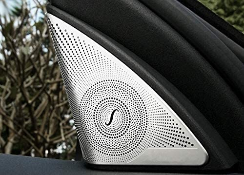 HOTRIMWORLD Interior Center Dashboard Speaker Panel Trim Cover for Mercedes-Benz C Class W205 S205 2014-2019