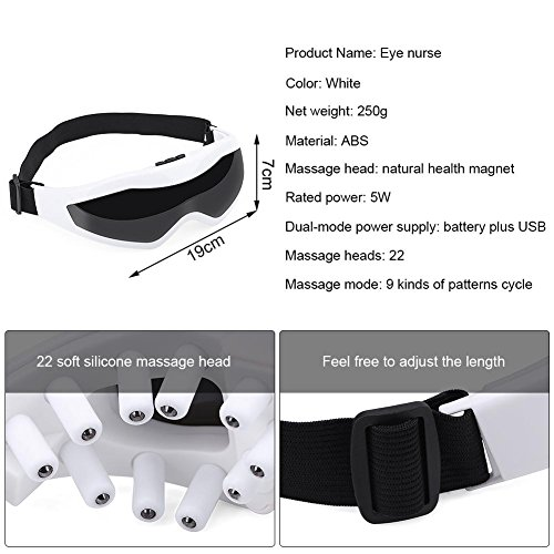 Electric Eye Massager Acupuncture Points Vibration Magnetic Therapy Massage Device USB 9 Modes Eye Health Care Stress Relief 51q1qFZcYWL