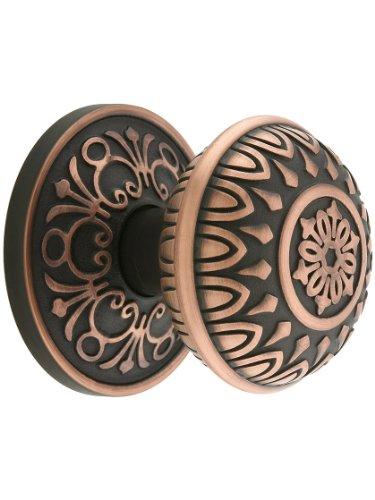 Lancaster Door Set With Lancaster Knobs Privacy In Oil Rubbed Bronze. (Emtek Nickel Door Knob)