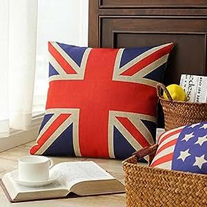 SKL London Olympic Decorative Rectangular UK Flag Union Jack Sherlock Holmes Movie Props Pillow Cases Sofa Chair Cushion Cover (45CM45CM)