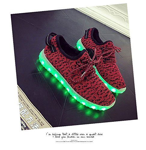 Gaorui Uomo Donna Outdoor Sport Led Light Up Sneakers In Tela Maglia Scarpe Da Corsa Scarpe Da Ginnastica Blu