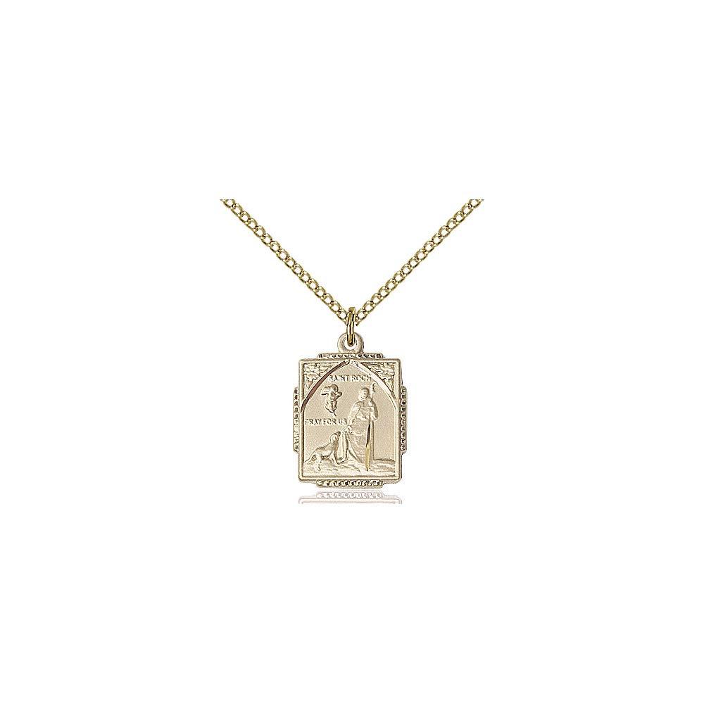 DiamondJewelryNY 14kt Gold Filled St Roch Pendant