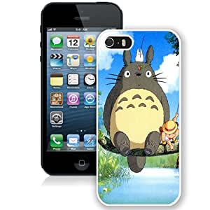 Fashion Custom Designed Cover Case For iPhone 5S Phone Case With Ghibli My Neighbor Totoro Anime_White Phone Case