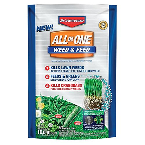 BioAdvanced All-in-One Weed & Feed Crabgrass Killer Science-Based Solutions Lawn Fertilizer, 10,000 Sq. ft, Lawn Care Granules