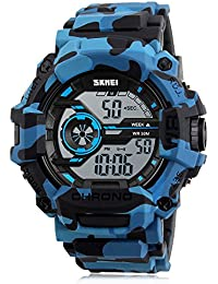 Digital Boys Watch Camouflage Blue Sports Military Style...