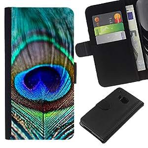 WINCASE Cuadro Funda Voltear Cuero Ranura Tarjetas TPU Carcasas Protectora Cover Case Para HTC One M9 - patrón patrón negro blanco