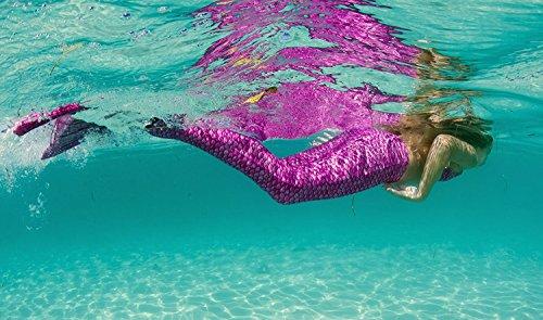 edb204e90b041 Fin Fun Mermaid Tail, Reinforced Tips, Monofin, Malibu Pink, Size Child 6